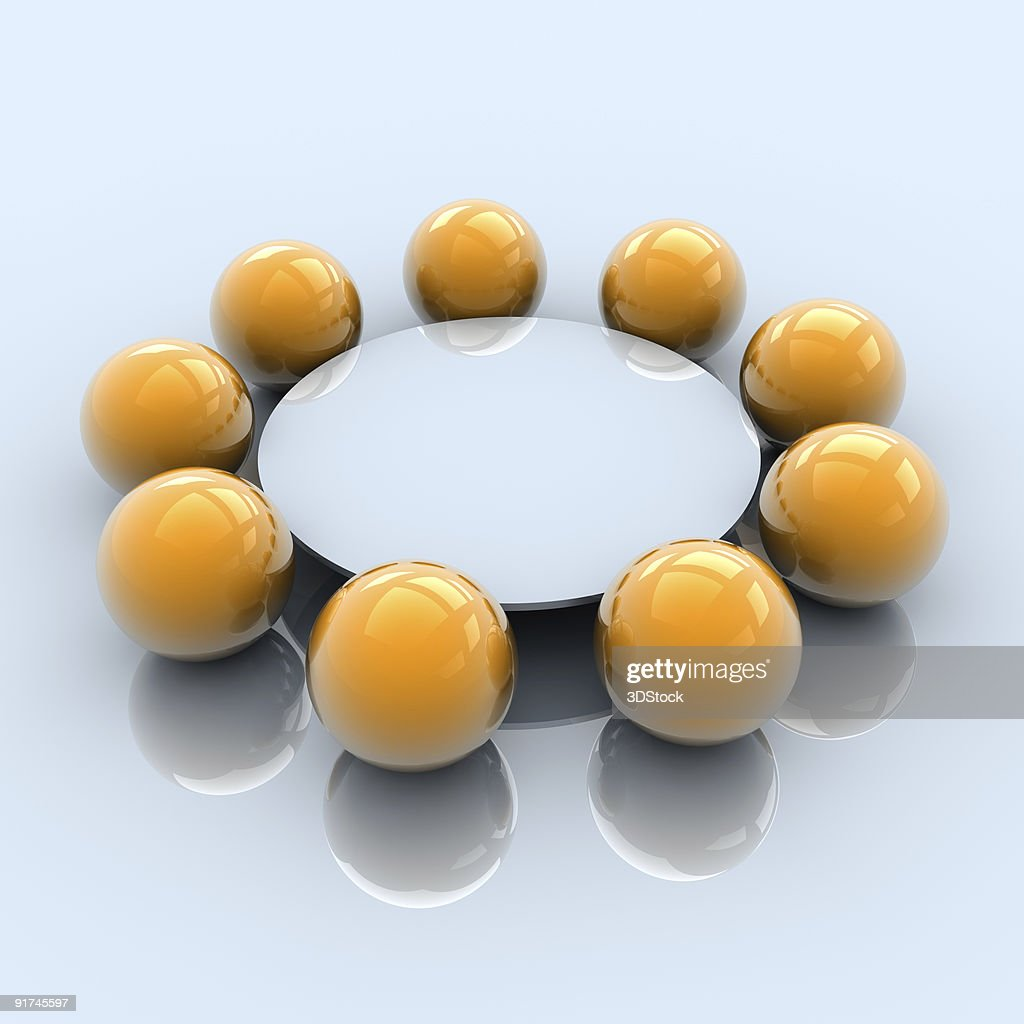Round Table Business Meeting : Stock Photo