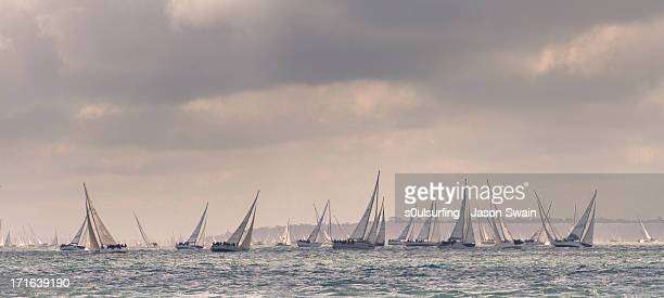 round the island race 2012 - s0ulsurfing stock pictures, royalty-free photos & images
