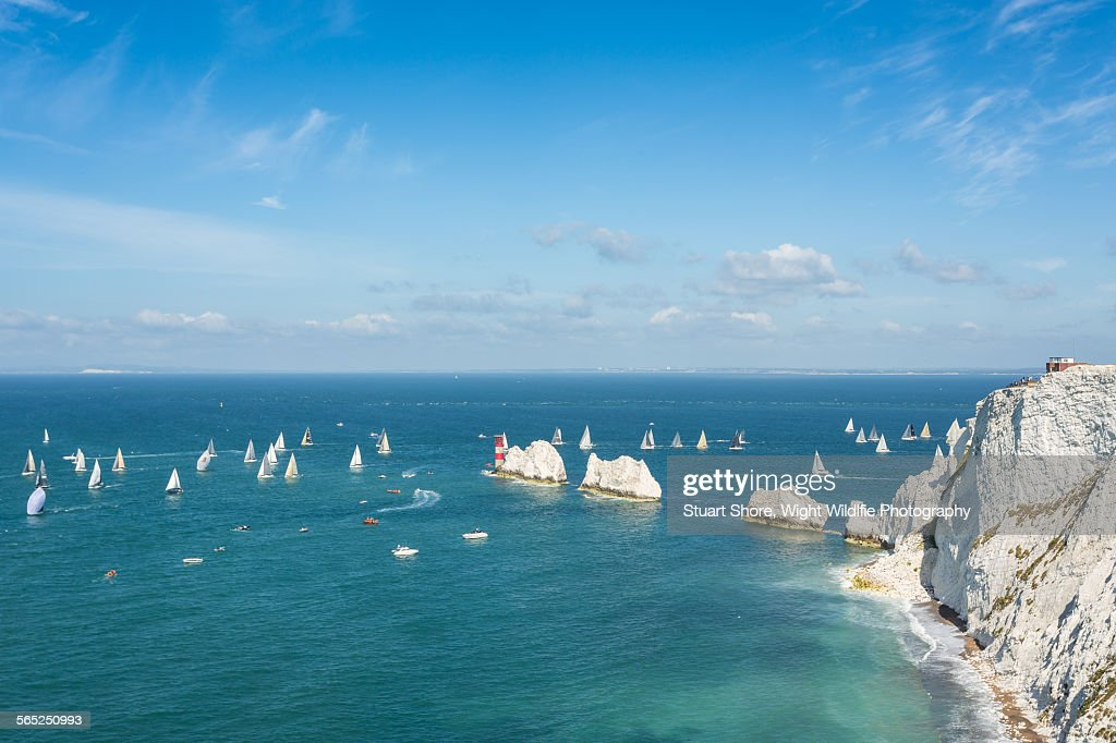 Round the island yacht race : Stock Photo