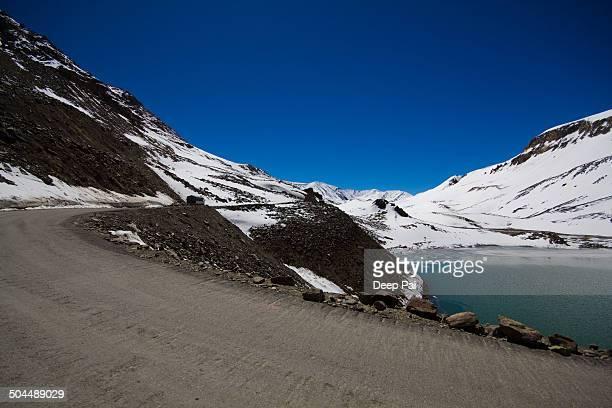 Round the Suraj Tal lake on the Manali-Leh highway
