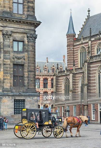 Round Trip by Horse-Drawn Carriage Through Amsterdam