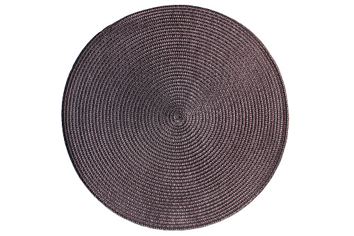 Round woven straw mat 957091346