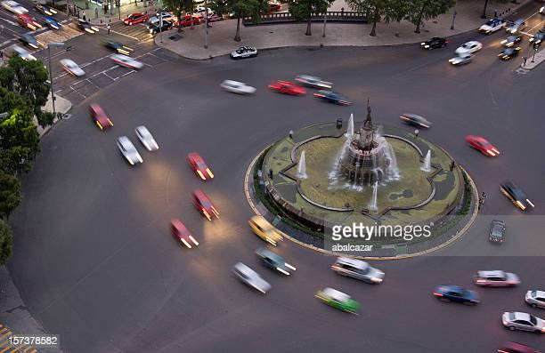 roundabout around the diana the huntress fountain - mexican god stock pictures, royalty-free photos & images