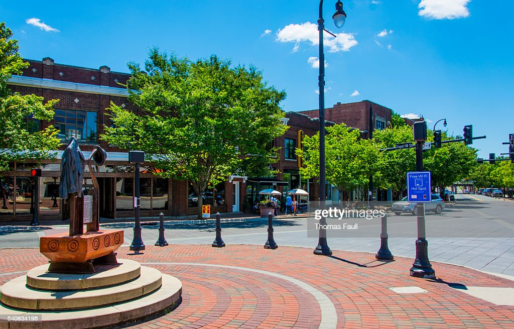 Roundabout in Durham, North Carolina : Stock Photo