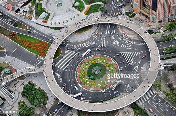 Kreisverkehr in Shanghai, China