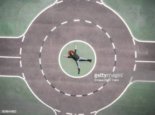 roundabout redhead - sports target stock photos and pictures