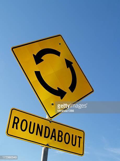 Roundabout / traffic circle sign