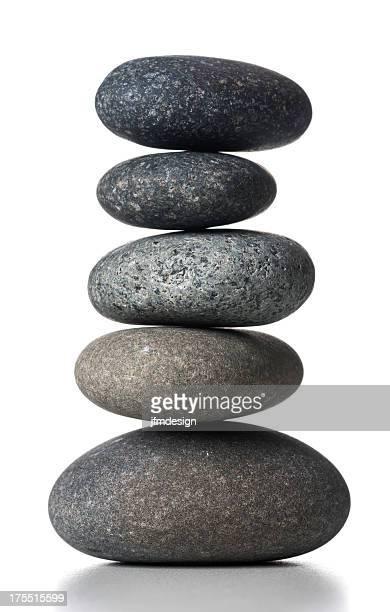 Abgerundete gestapelte Steine