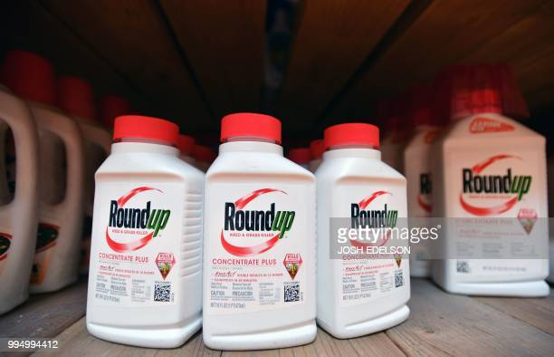 Roundup products are seen for sale at a Home Depot store in San Rafael California on July 2018 A lawyer for a California groundskeeper dying of...