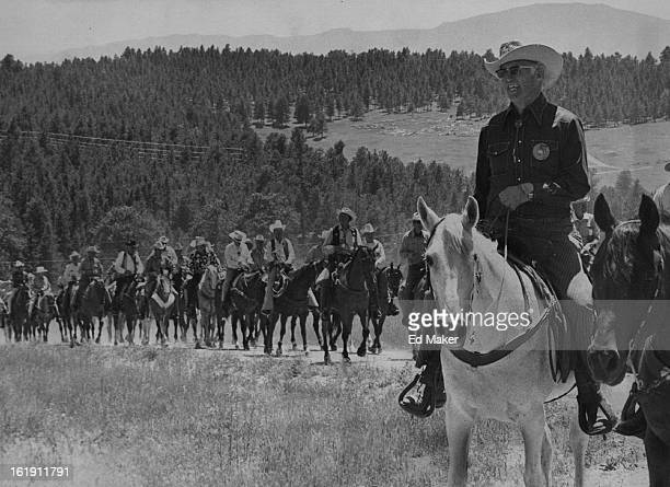 JUL 11 1976 JUL 12 1976 Roundup Riders Tune Up A group of Roundup Riders of the Rockies returns above from an afternoon 'shakedown' ride near the...