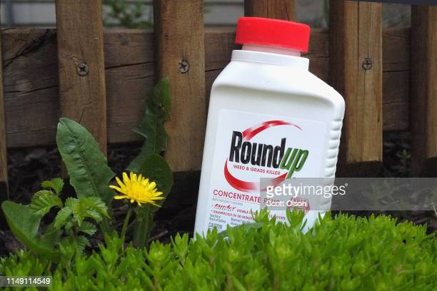 Roundup weed killer is shown on May 14 2019 in Chicago Illinois A jury yesterday ordered Monsanto the maker of Roundup to pay a California couple...