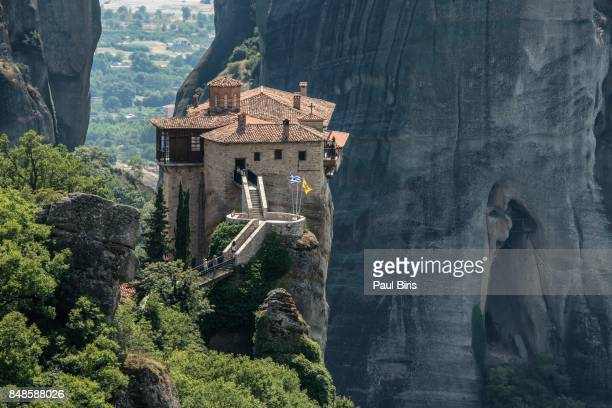 roussanou monastery. meteora, greece - unesco world heritage site stock pictures, royalty-free photos & images