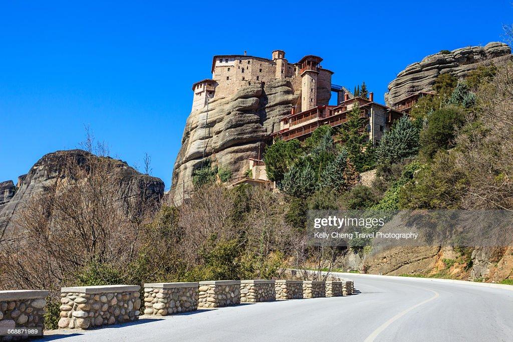 Roussanou monastery : Stock Photo