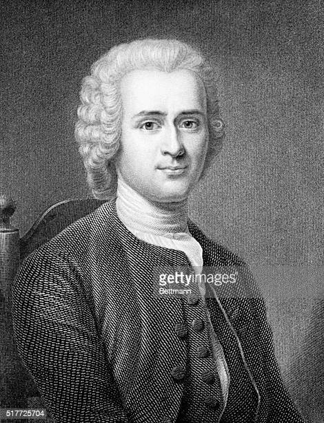 Rousseau Jean Jacques Engraving from painting by Latour