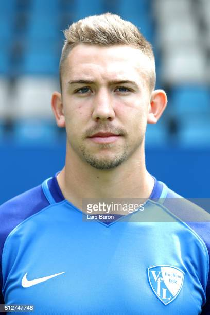 Roussell Canouse of VfL Bochum poses during the team presentation at Vonovia Ruhrstadion on July 11 2017 in Bochum Germany