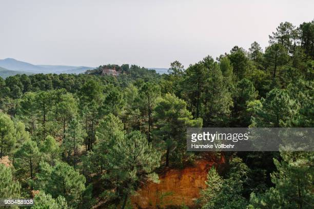 Roussillon Ochre Deposit in Luberon, France