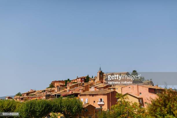 Roussillon Ochre Village on the Hill in Luberon, France