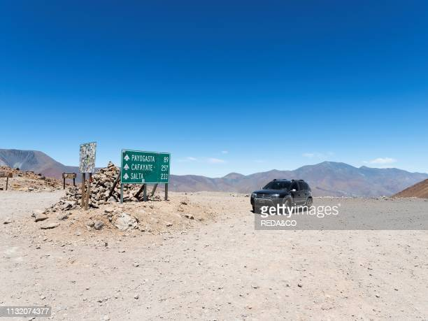 Routa 40 climbing up to Abra del Acay one of the highest regular roads in the world The Altiplano in Argentina South America Argentina