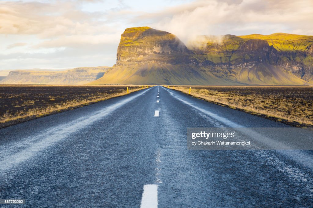 Route 1 - Iceland Ring Road. : Stock Photo