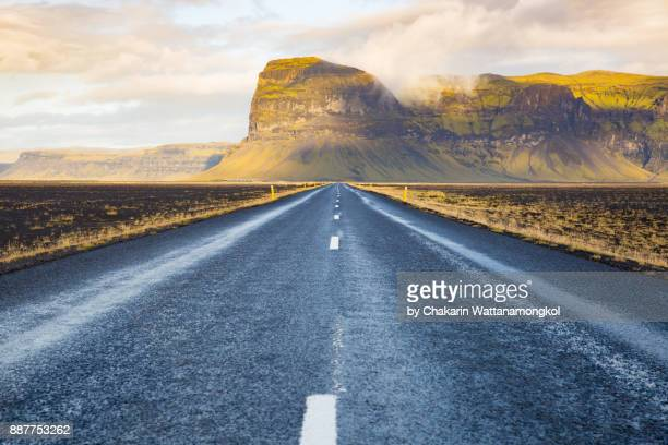 route 1 - iceland ring road. - mid section stock photos and pictures