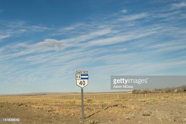 Route 40 sign, Patagonia, Argentina