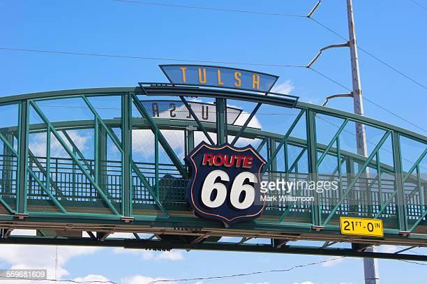 route 66 bridge - tulsa stock pictures, royalty-free photos & images