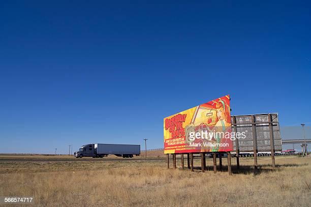Route 66 hoarding.