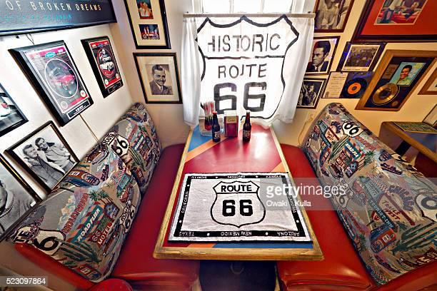 Route 66 Memorabilia in Diner in Arizona