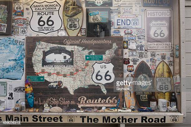 route 66 memorabilia - route 66 stock photos and pictures