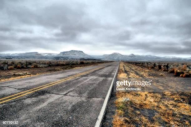 Route 66 New Mexico Winter Landscape