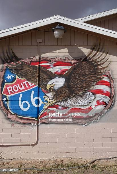 Route 66 painted sign Seligman Arizona