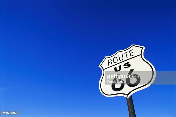 route 66 road sign - route 66 stock-fotos und bilder
