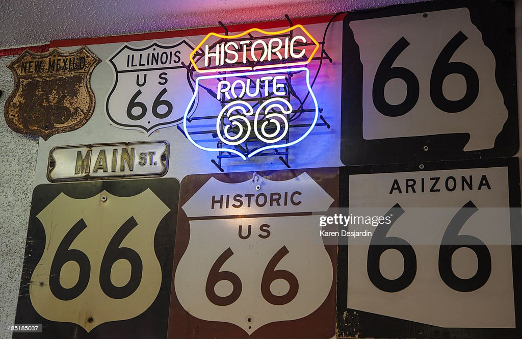 Route 66 signs : Stock Photo
