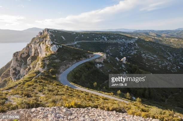 Route des Cretes landscape with road