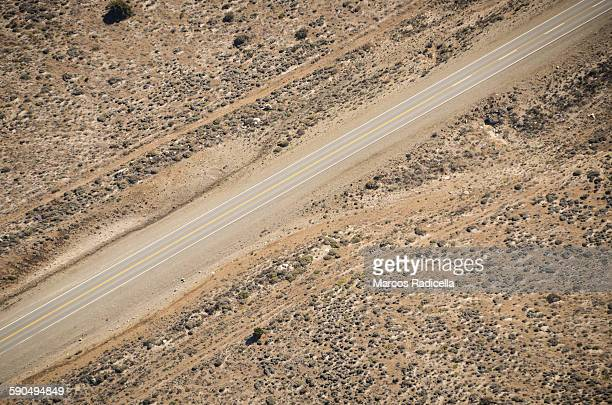 route in the steppe from the air - radicella stock photos and pictures