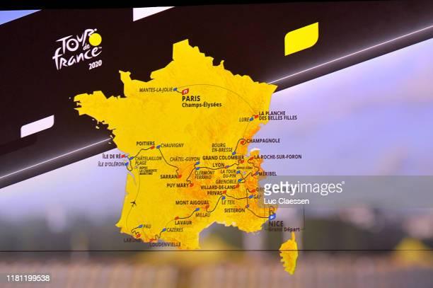 Route map / Detail view / during the 107th Tour de France 2020 Route Presentation / Le Palais des Congres / Route Announcement / #TDF2020 / on...