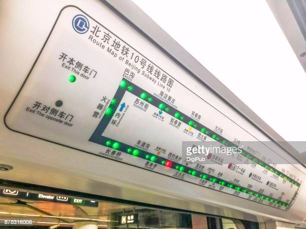 Route Map of Beijing Subway Line 10
