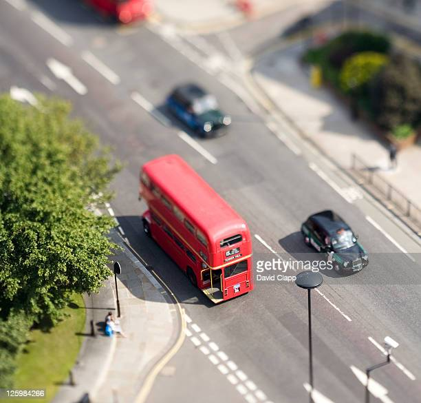 Routemaster bus and taxis, London, UK