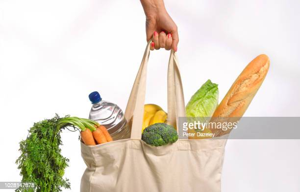routine weekly shop - bag stock pictures, royalty-free photos & images