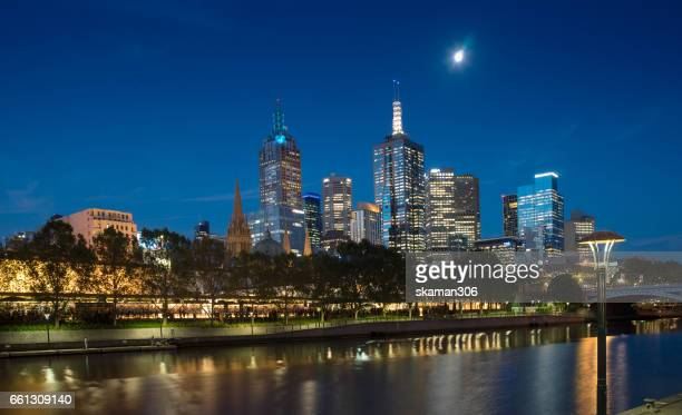 MELBOURNE AUSTRALIA  7 MARCH 2017 : routine with urban life near South bank area close yarra river with Building