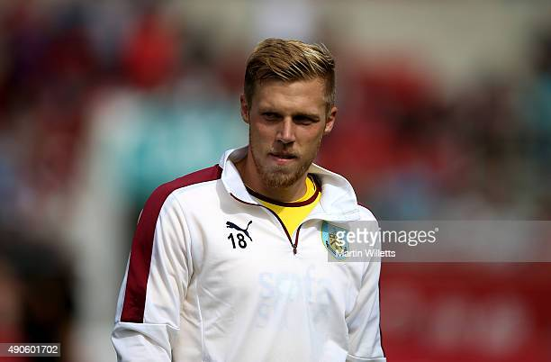 Rouwen Hennings of Burnley during the Sky Bet Championship match between Bristol City and Burnley at Ashton Gate on August 29 2015 in Bristol England