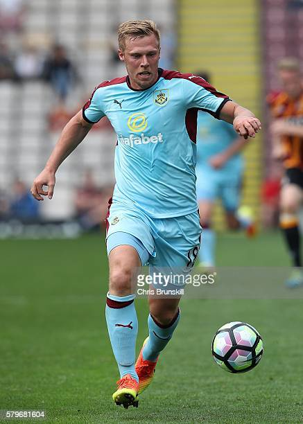Rouwen Hennings of Burnley in action during the preseason friendly match between Bradford City and Burnley at Valley Parade on July 23 2016 in...