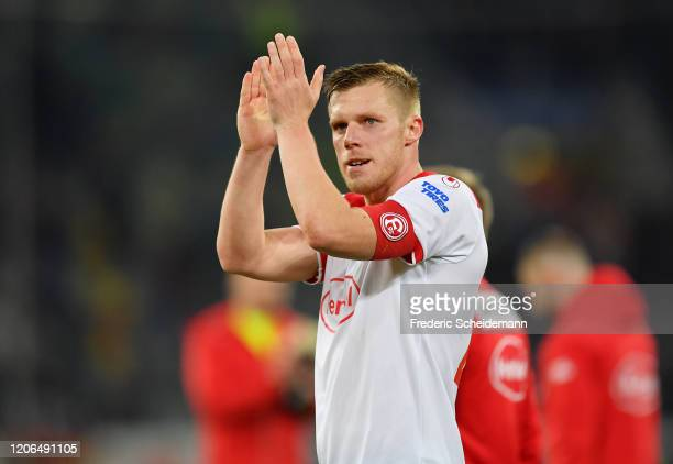 Rouwen Hennings of Duesseldorf shows his disappointment after the Bundesliga match between Fortuna Duesseldorf and Borussia Moenchengladbach at...