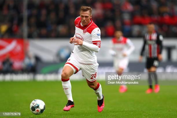 Rouwen Hennings of Fortuna Dusseldorf in action during the Bundesliga match between Fortuna Duesseldorf and Eintracht Frankfurt at Merkur Spiel-Arena...