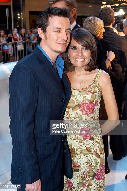 Rove McManus and Belinda Emmett arrive for the Australian premiere of the film 'Cold Mountain' at the State Theatre on December 17 2003 in Sydney...