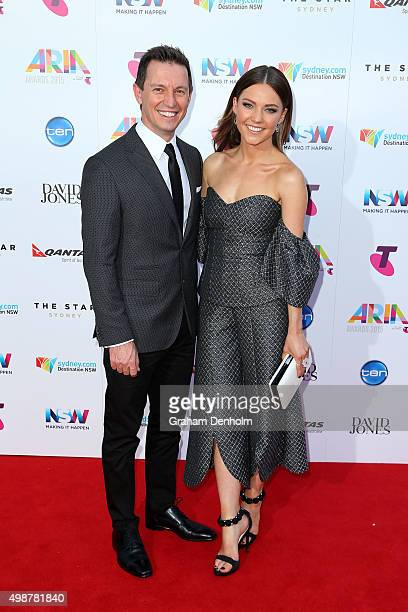 Rove McManus and Sam Frost arrive for the 29th Annual ARIA Awards 2015 at The Star on November 26 2015 in Sydney Australia