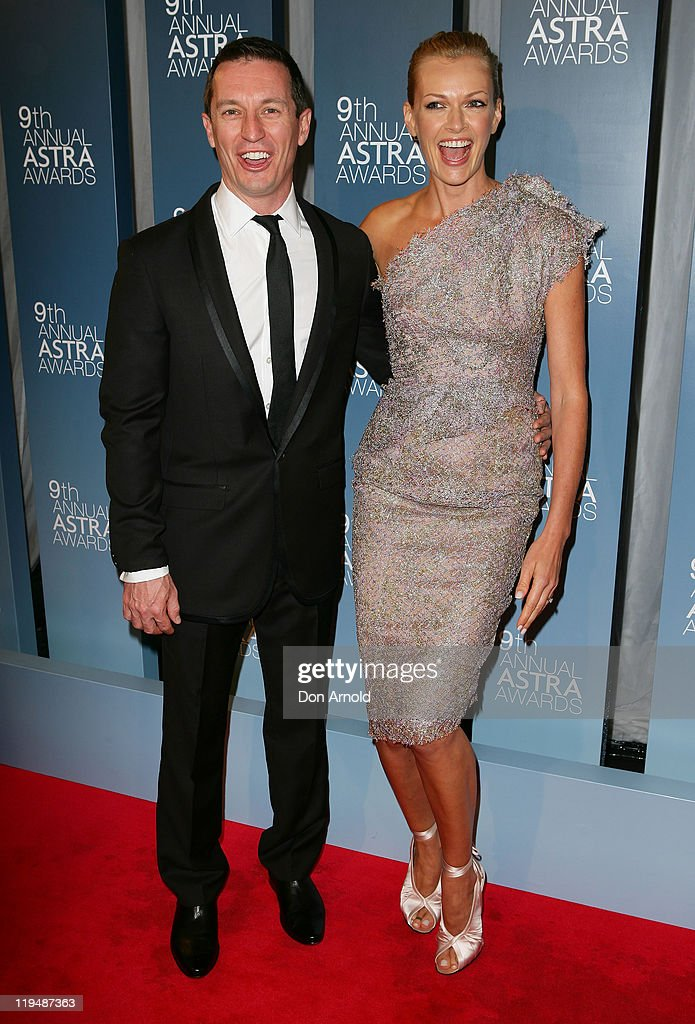 Rove McManus and Sarah Murdoch arrive at the 9th Annual Astra Awards on July 21, 2011 in Sydney, Australia.