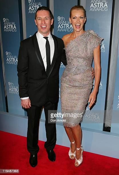 Rove McManus and Sarah Murdoch arrive at the 9th Annual Astra Awards on July 21 2011 in Sydney Australia
