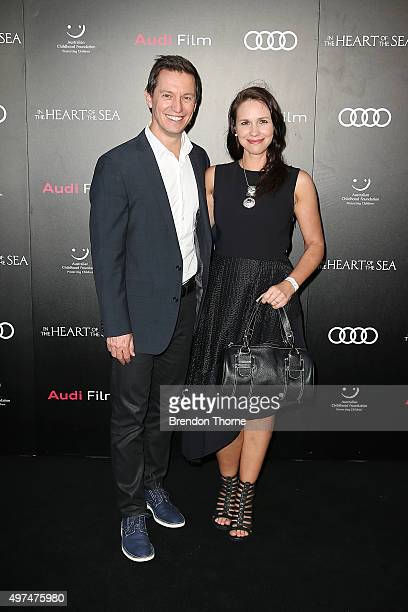 Rove McManus and Tasma Walton arrive ahead of the Audi Film Gala's exclusive charity screening of 'In The Heart of The Sea' at Hoyts Entertainment...