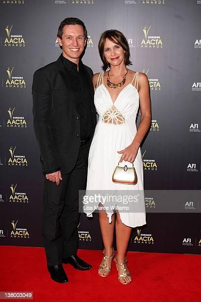 Rove McManus and Tasma Walton arrive at the 2012 AACTA awards at the Sydney Opera House on January 31 2012 in Sydney Australia